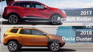 Renault Kadjar 2017 : 2017 renault kadjar vs 2018 dacia duster technical comparison youtube ~ Medecine-chirurgie-esthetiques.com Avis de Voitures