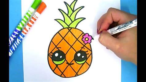 bilder selber malen einfach kawaii ananas zeichnen ganz einfach