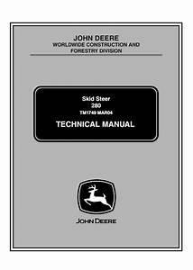 John Deere 280 Skid Steer Loaders Tm1749 Pdf Manual