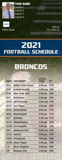 custom denver broncos football schedule magnets