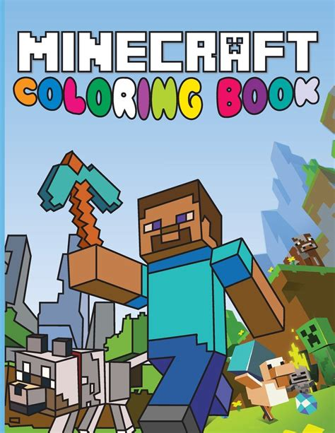 color  books minecraft coloring page