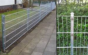 Zaun 150 Cm Hoch : gartenzaun kpl 20 meter 83cm h he verzinkt zaun gittermattenzaun metall ebay ~ Frokenaadalensverden.com Haus und Dekorationen
