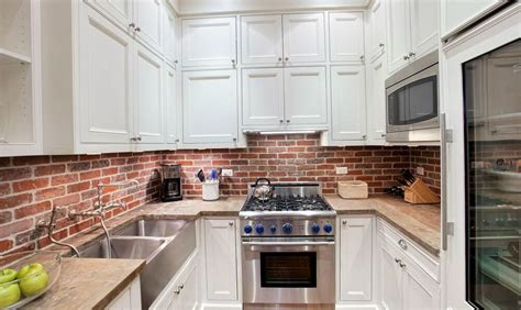 brick tile backsplash kitchen red brick backsplash home design