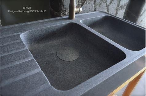 plan de travail cuisine ardoise 120x60cm évier en granit pour cuisine 2 cuves