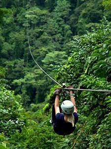 Zip Lining in the Rainforest Canopy (Costa Rica).Ziplining ...