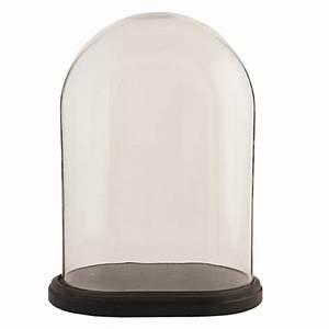 Globe En Verre : globe ovale sur socle noir hauteur30cm ~ Teatrodelosmanantiales.com Idées de Décoration