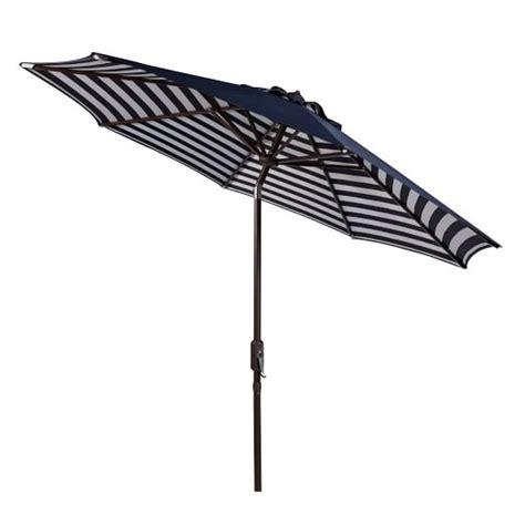 striped outdoor umbrella navy white west elm