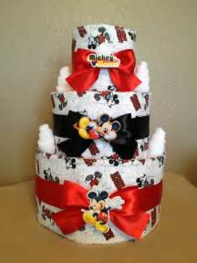 baby shower cakes for a boy 3 tier mickey mouse cake