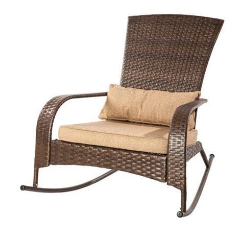 patio flare collection one wicker muskoka rocking chair