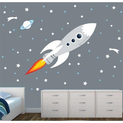 rocket wall decal  nursery  baby room