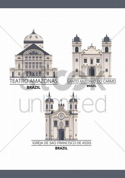 Landmarks Graphic Brazil Stockunlimited