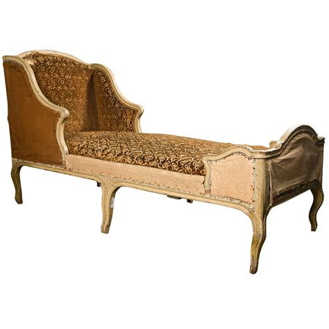 painted oak chaise longue in the rococo style
