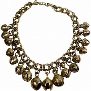 Golden Jingle Sleigh Bell Necklace SOLD On Ruby Lane