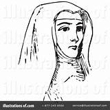 Nun Clipart Illustration Picsburg Royalty Rf sketch template