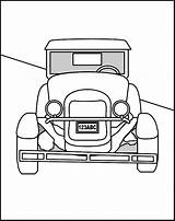 Coloring Pages Cars Colouring Hag Template Antique Sheets Printable Library Clipart Popular sketch template