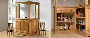Bar De Salon Moderne : salon en bois et meubles de s jour meubles bois massif ~ Teatrodelosmanantiales.com Idées de Décoration