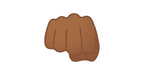 geballte faust mitteldunkle hautfarbe emoji
