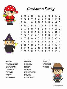 Costume Party Word Search
