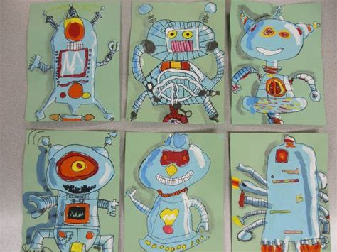 toneys art class     leader robot
