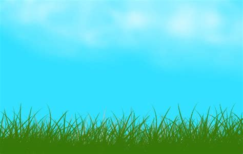 Full Page Grass And Sky Clipart Collection