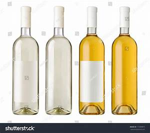 white wine bottle clear glass bottle stock photo 113309875 With clear wine labels