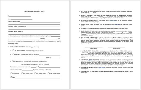 promissory note template word 43 free promissory note sles templates ms word and pdfs templatehub