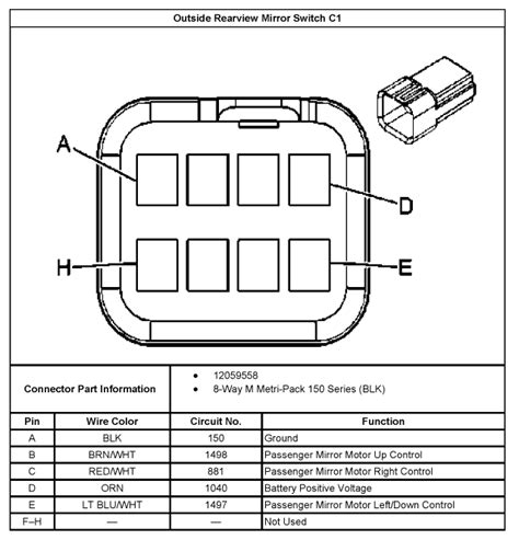 Rearview Mirror Wiring Diagram 2005 Chevy Silverado by I Would Like To Install A Power Mirror On My 2005 Chevy