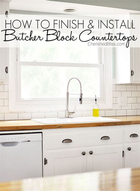how do you get glue a countertop how to finish and install butcher block countertop