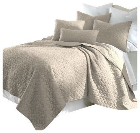 King Size Quilt And Shams by King Size Cotton Quilt Set With 2 Shams Taupe Quilts