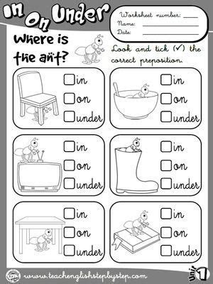 place prepositions worksheet  bw version
