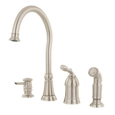 moen kitchen lindley single handle side sprayer kitchen faucet in spo