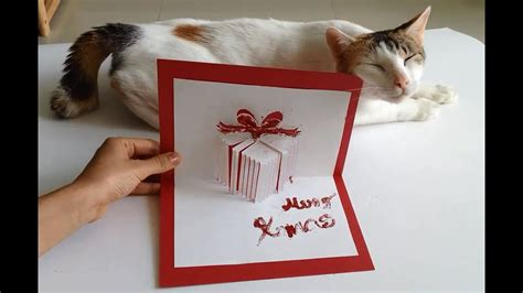 pop up card box template christmas how to make a gift pop up card a handmade gifts made easy
