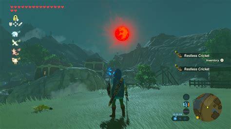Zelda Blood Moon Zelda Breath Of The Wild Under A Red Moon Shrine Quest