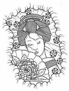 Geisha Coloring Pages