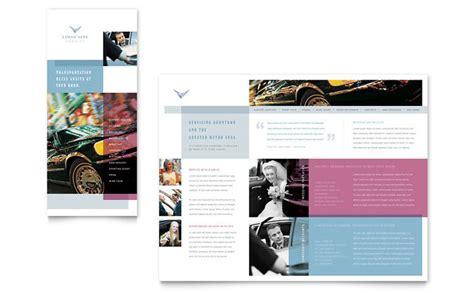 limousine service brochure template design