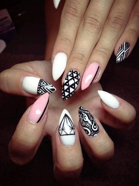 almond nails design 30 must try almond nail designs