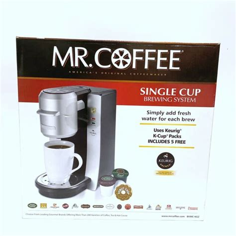 Coffee timer to produce a hot cup of brew first thing in the morning or for. NEW MR COFFEE SINGLE CUP K CUP BREWING SYSTEM BVMC-KG2 | eBay