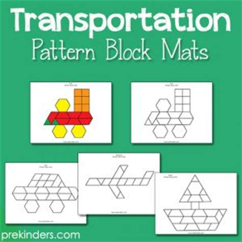 Algebra Tiles Mat Template by Transportation Pattern Block Mats A Well Patterns And