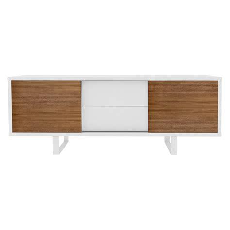 high hat lights slide drawer sideboard white walnut eurway modern