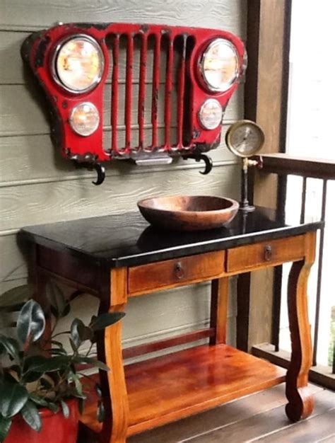 jeep grill art the artisi 39 s corner industrial vinage steam punk art