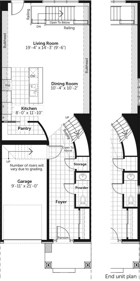 infinity townhome floor plans claridge homes