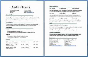 sample 2 page resume jennywasherecom With free 2 page resume template