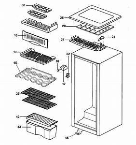 Cabinet Parts Diagram  U0026 Parts List For Model Smr04damww Ge