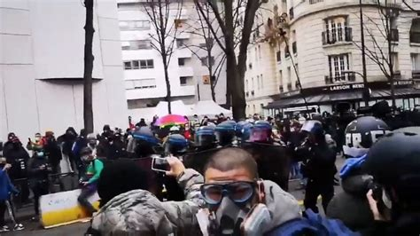Clashes Erupt as Paris Demonstrators Protest Against ...