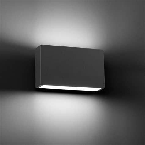 tane led dark grey wall lamp faro