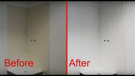 easy installation  corian shower wall system youtube