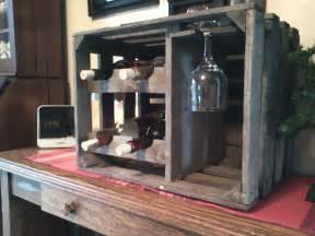 DIY Wooden Crate Wine Rack