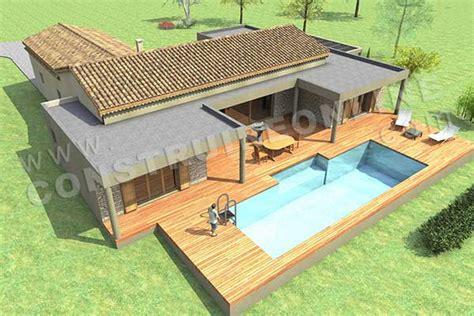 plan maison 4 chambres plain pied gratuit plan de maison contemporaine manosque