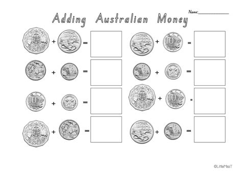 australian money recognition worksheets for kindergarten australian money worksheets teach in a box