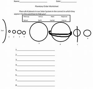 Solar System Printable Worksheets (page 2) - Pics about space